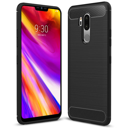 Flexi Carbon Fibre Tough Case for LG G7 ThinQ - Brushed Black